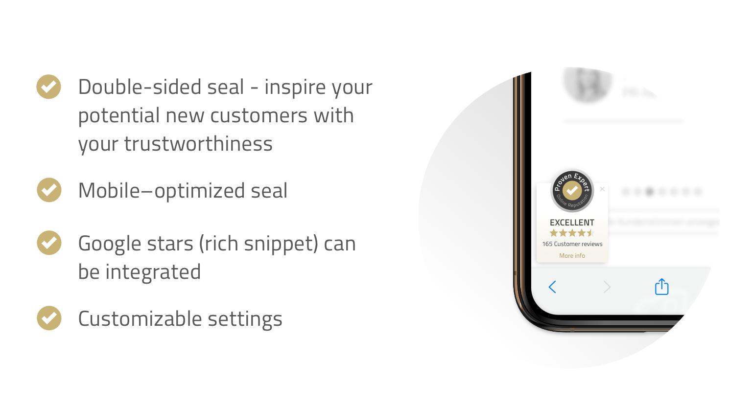 The ProvenExpert PRO Seal - Your advantages